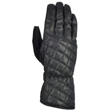 Oxford Heritage Somerville Leather Women's Motorcycle Motorbike Gloves Black